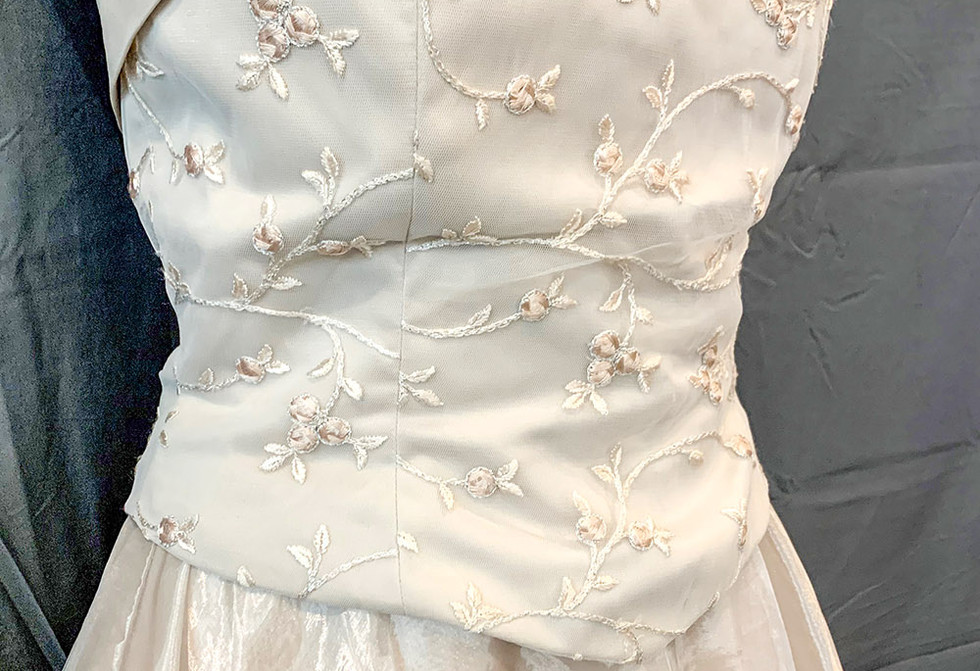 Cream formal gown
