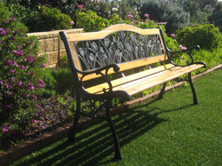 Garden bench donated by Bill Beale