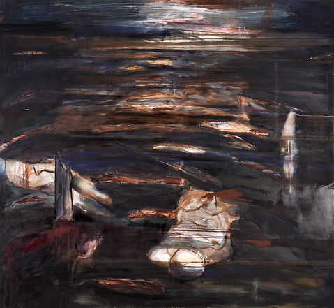 untitled oil on canvas, 175 x380cm, Dipt