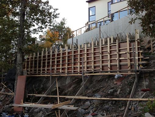 Stödmur i betong