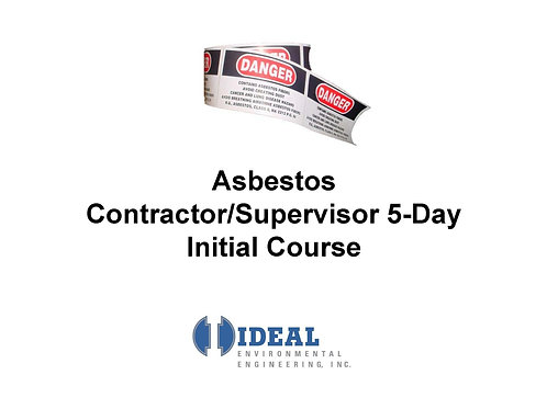Contractor/Supervisor Initial