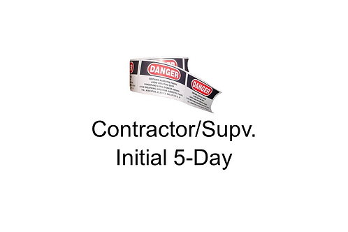 Asbestos Contractor/Supervisor Initial 5-Day