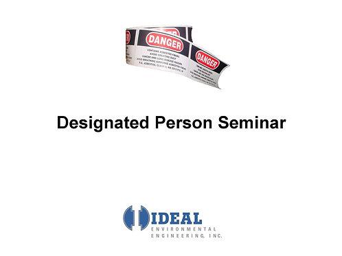 Designated Person Training