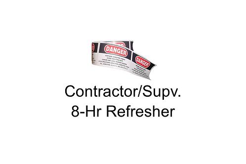 Contractor/Supervisor Refresher