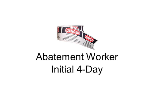 Abatement Worker Initial 4-Day