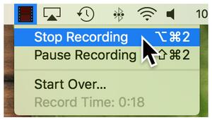Finish Recording Mac