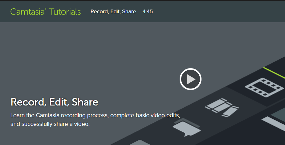 Camtasia Tutorial Record,Edit,Share Training img