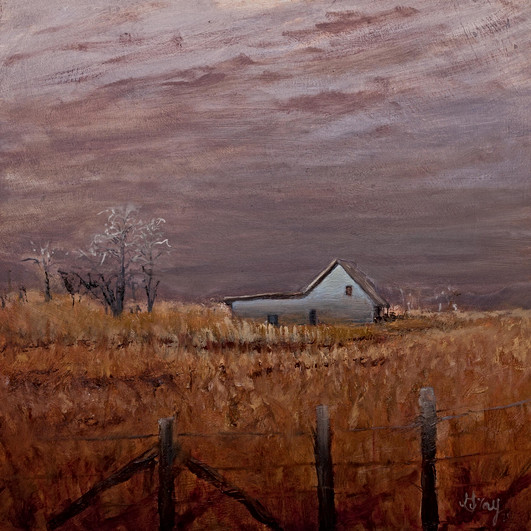 "Eastern North Carolina ""Last Light"" oil painting by Gray Artus"