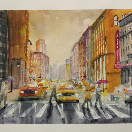 New York in watercolor
