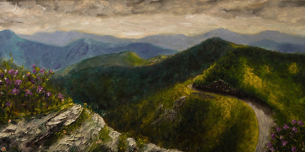 Craggy Pinnacle along Blue Ridge Parkway