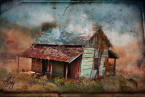 Blue Ridge Cabin - Photo composite by Gray Artus