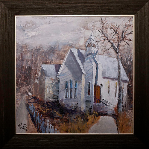 Highlands Chapel - Original Oil Painting by Gray Artus