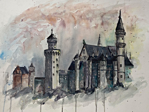 King Ludwig's Neuschwanstein Castle in Bavaria - Gray Artus