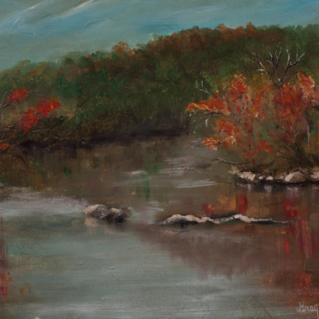 Along the French Broad a plein air painting