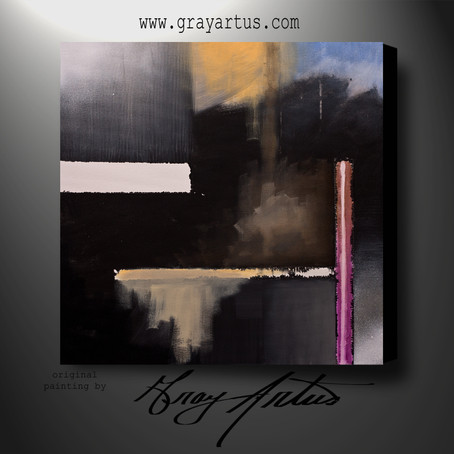 JANUARY | Modern Abstract Acrylic Painting