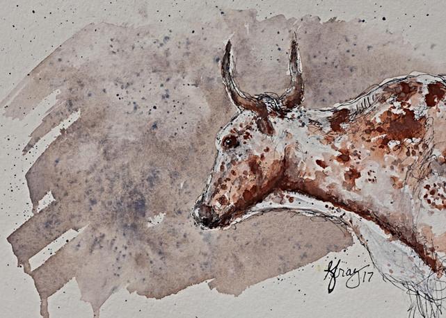 Longhorn Steer - Gray Artus