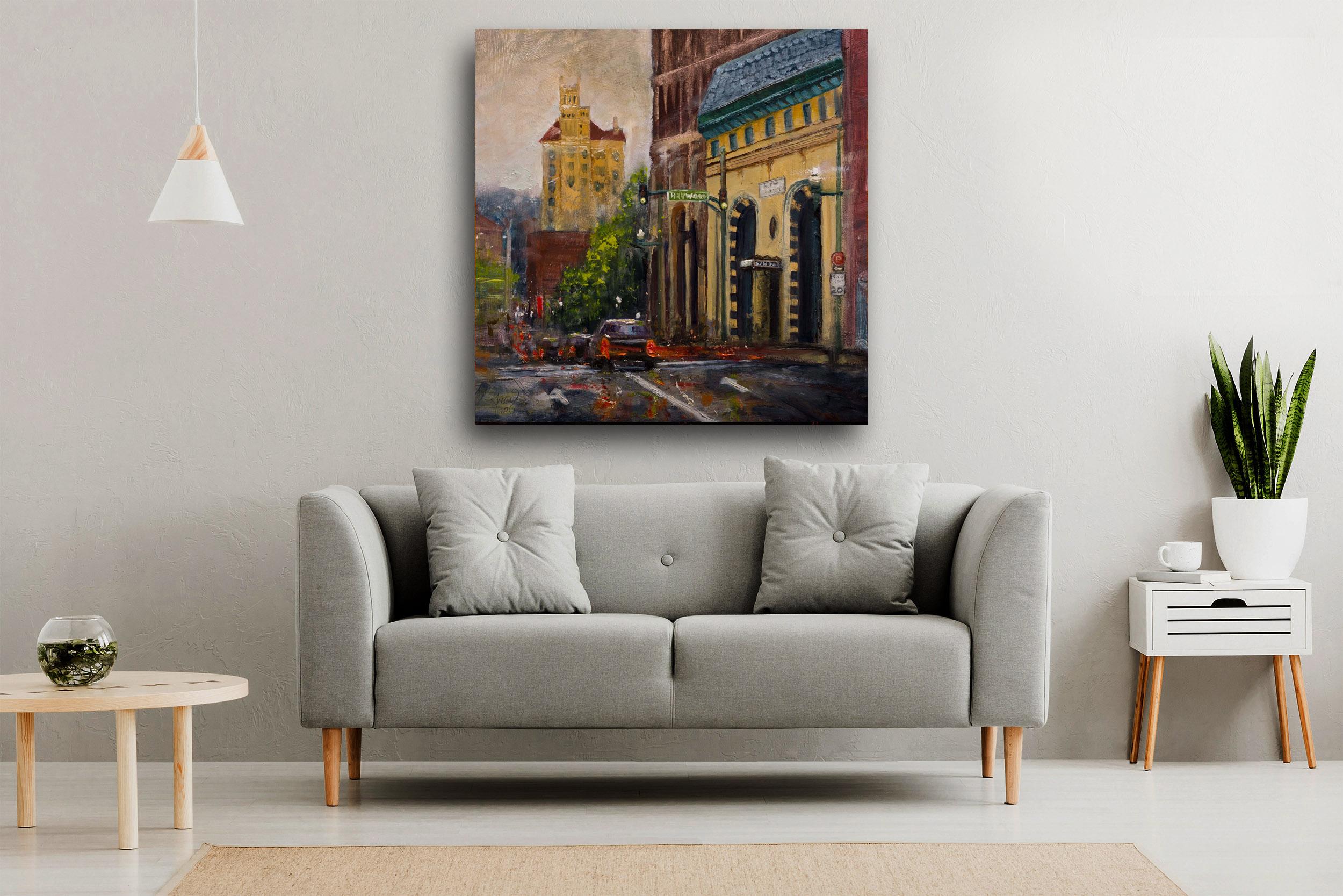 Asheville art - oil Gray Artus