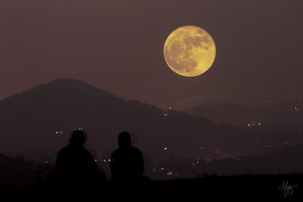 Super Moon November 2016 taken off Blue Ridge Parkway in North Carolina