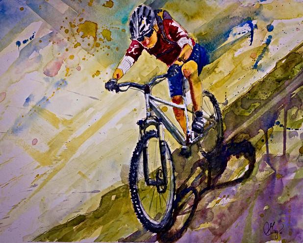 Mountain Biker - Gray Artus