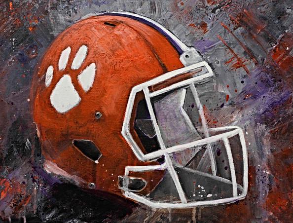 Clemson Football Helmet - Gray Artus