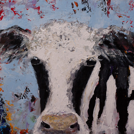Holstein Pallet Knife Painting
