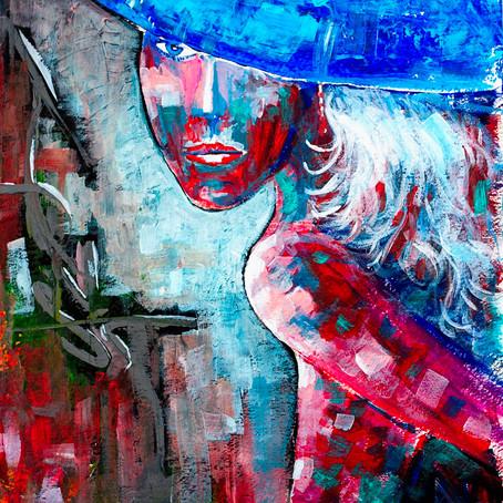 Acrylic painting 15x22 on Fine Art Paper