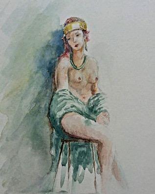 Day 30. _5x7 watercolor on cold press_Ww