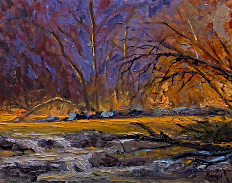 Morning Light Along the French Broad oil painting by Gray Artus
