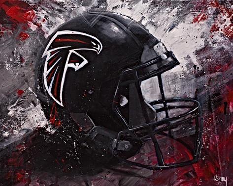 Atlanta Falcons Helmet - Gray Artus