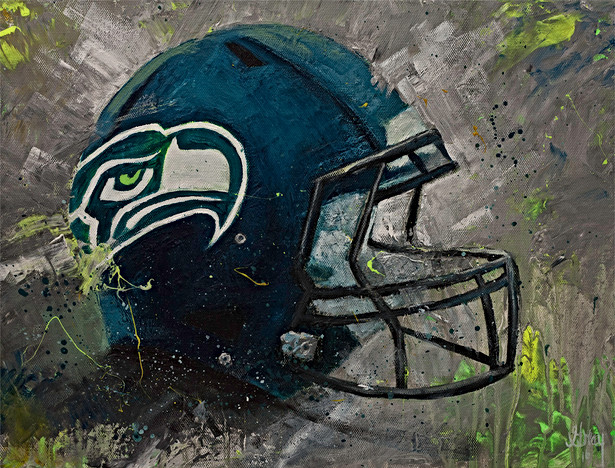 Seahawks Helmet - Gray Artus