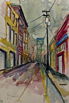 Asheville Alley - Gray Artus