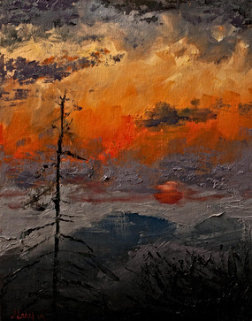 Blue Ridge Sunset - Oil by Gray Artus