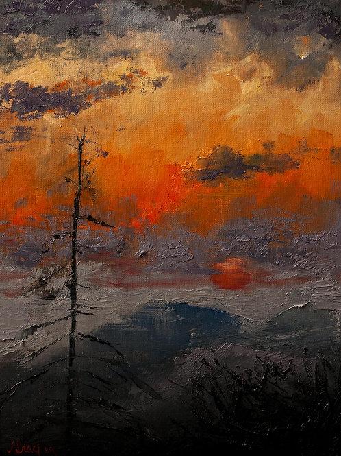 Blue Ridge Parkway Sunrise * Original Oil Painting