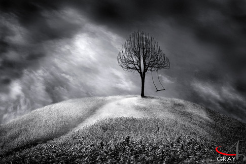 Alone - photo composite by Gray Artus