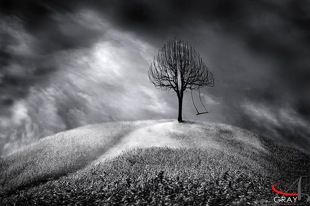 Alone - photo composite by Gray Artus