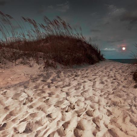 Full Moon over Topsail Island