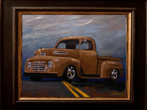 48' Ford F1 - Oil Painting