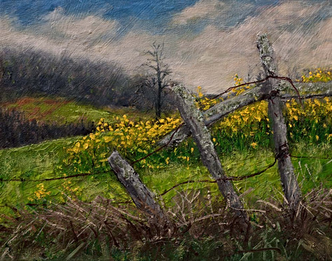 Blue Ridge Spring - Painting by Gray Art