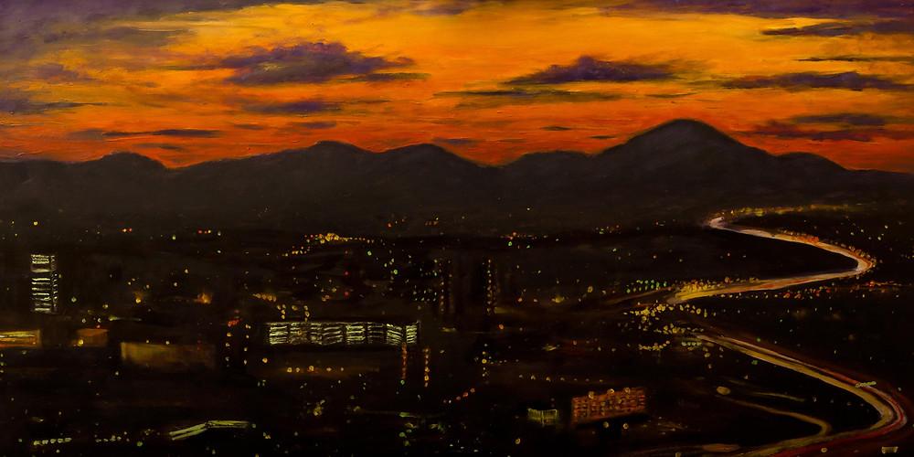 Asheville Skyline by Gray Artus