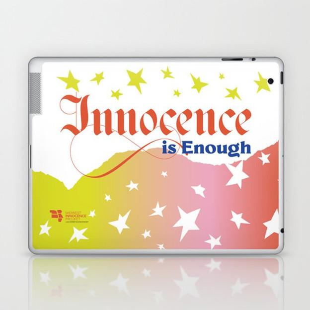 Innocence is Enough laptop skin