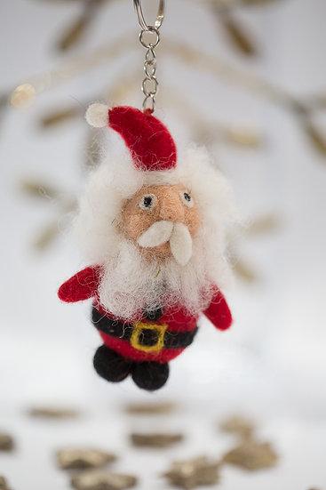 Drolliger Weihnachtsmann, Anhänger, aufwendig gefilzt