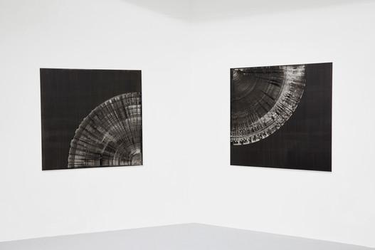 Petrify, oil and aluminium paint on canvas, 110 x 110cm each