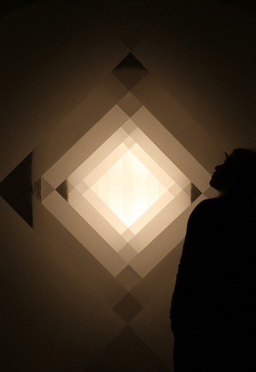 The Shape of Light, installation with Jessica Rayner at Lumen Studios, 2018