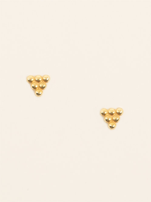 triangle dots earring
