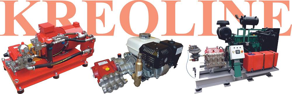 Насосные установки высокого давления с электрическим, бензиновым и дизельным двигателем