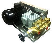 Плунжерный насос высокого давления NP30-140-100 с мотором на раме