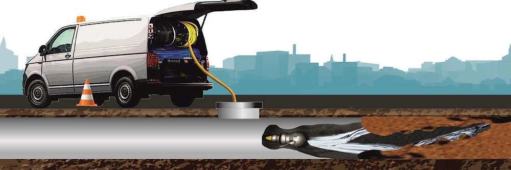 Плунжерный насос высокого давления для каналопромывки