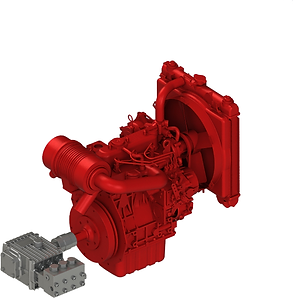 Плунжерный насос с дизельным двигателем