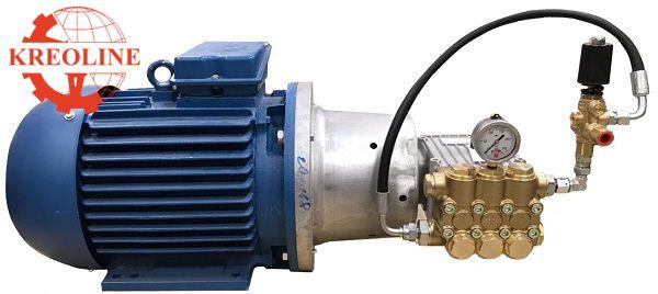Плунжерный насос высокого давления с электродвигателем для воды