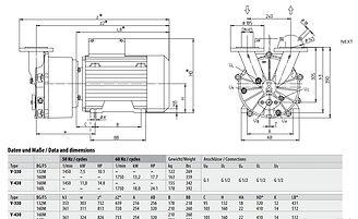 Технические характеристики V330-430